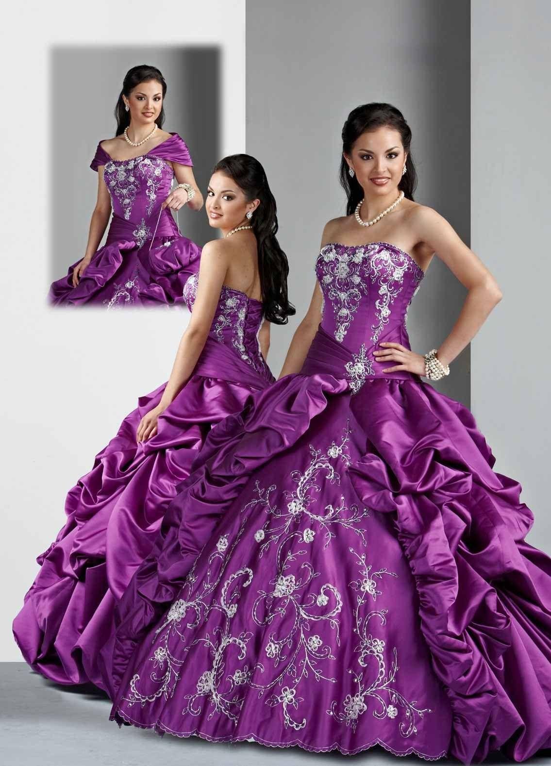Purple dresses to wear to a wedding  Purple dress  Quincenera dresses  Pinterest  Purple dress
