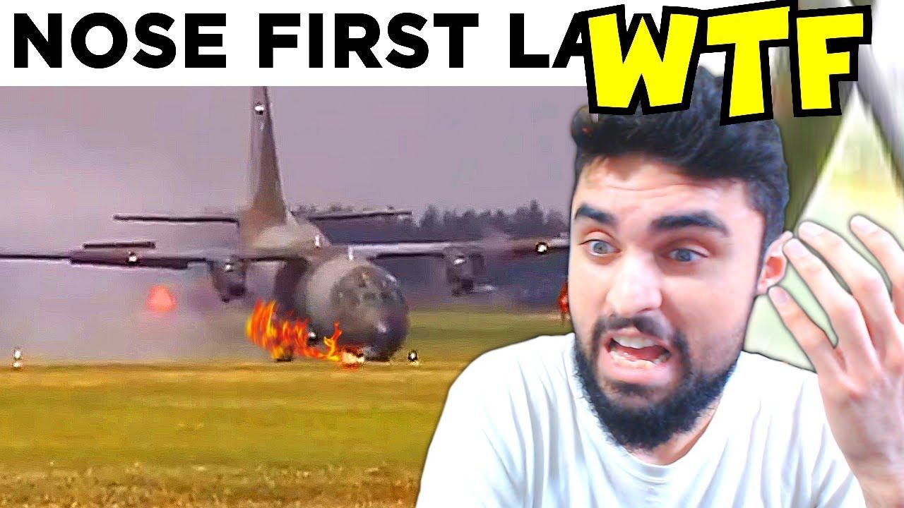 AC130 Catches FIRE while Landing* BO5 z IRL & ( MEMES