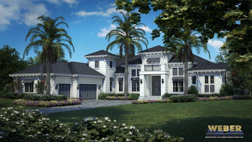 West Indies House Plan Coastal Contemporary Home Floor Plan Florida House Plans Mediterranean Style House Plans Coastal House Plans
