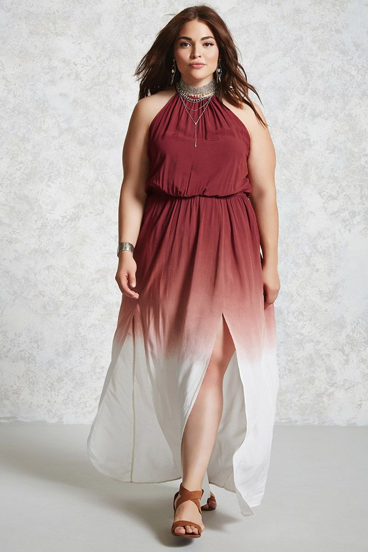 Plus Size Ombre Maxi Dress - Plus Size - Dresses ...
