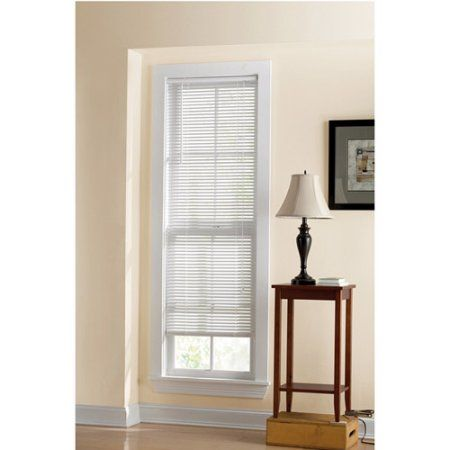 Mainstays 1 Inch Vinyl Room Darkening Mini Blind White White Vinyl Mini Blinds Cool Curtains Blinds