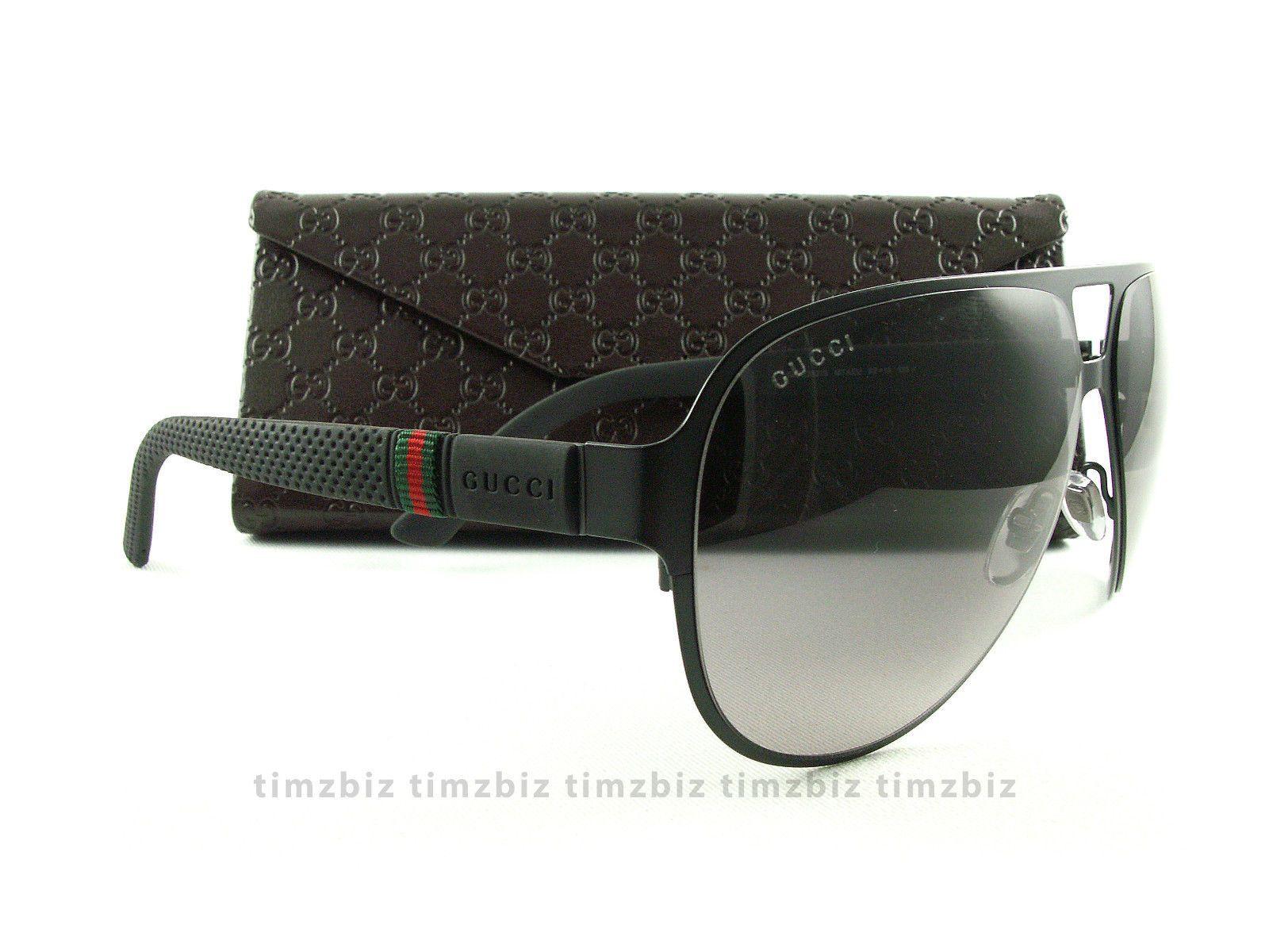 5690266bbfc New Gucci Sunglasses GG 2252 s Black Aviator M7AEU Authentic