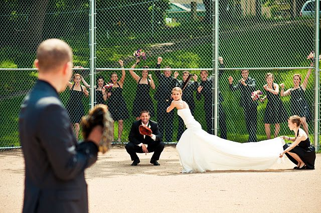 Yessss, this is perfect with all the baseball and softball players in our wedding!