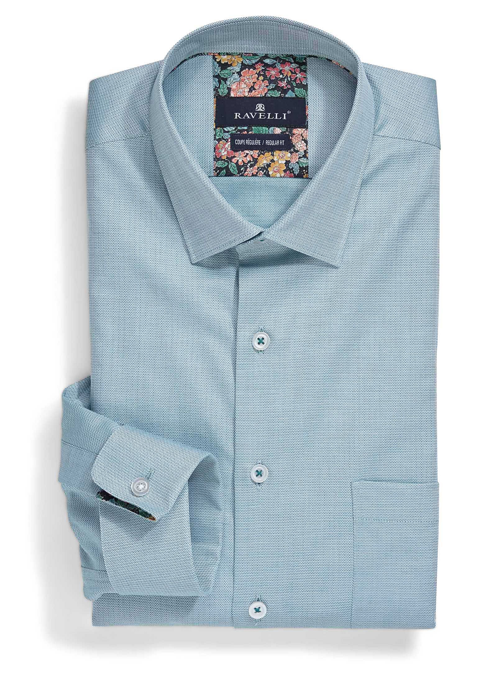 Sea Blue Shirt Regular Fit Mens Shirt Dress Mens Shirts Shirts