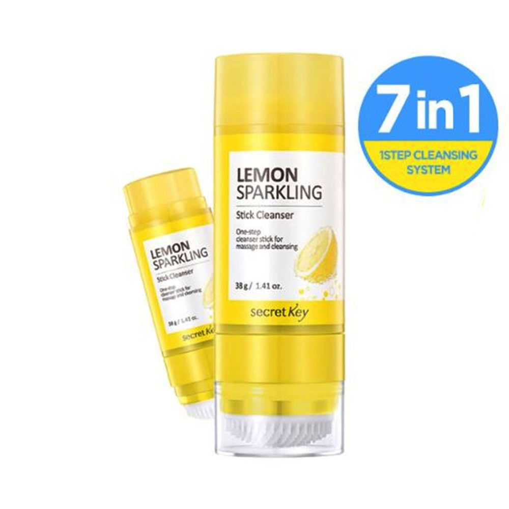 Secret Key Lemon Sparkling Stick Cleanser 38g 1 34oz Cleanser Korean Cosmetics Skin Care