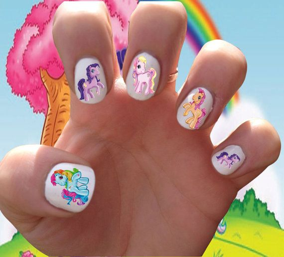 My Little Pony Clic Vintage Eighties Friendship Is Magic Nail Decals Transfer Stickers