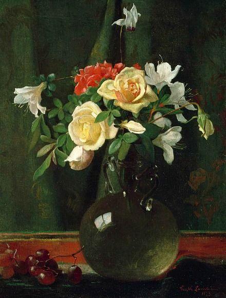 George Cochran Lambdin Vase of Flowers 1873