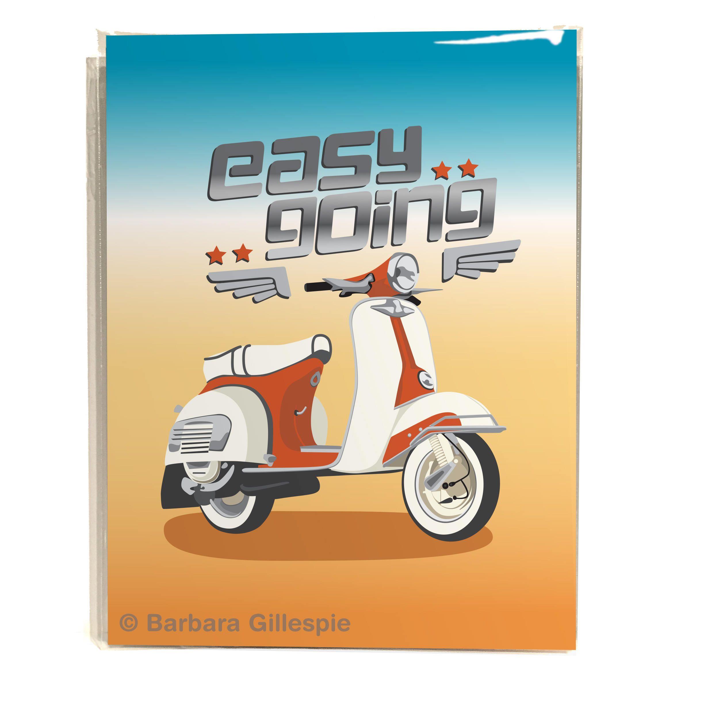 8x10 Motor Scooter Print Easy Going Art Print Easy Rider Spoof