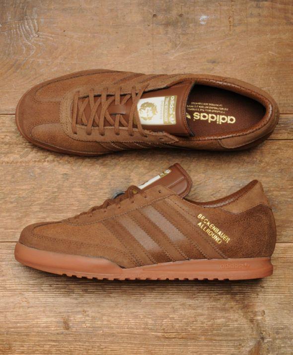 adidas originals mens beckenbauer all round trainers vintage brown