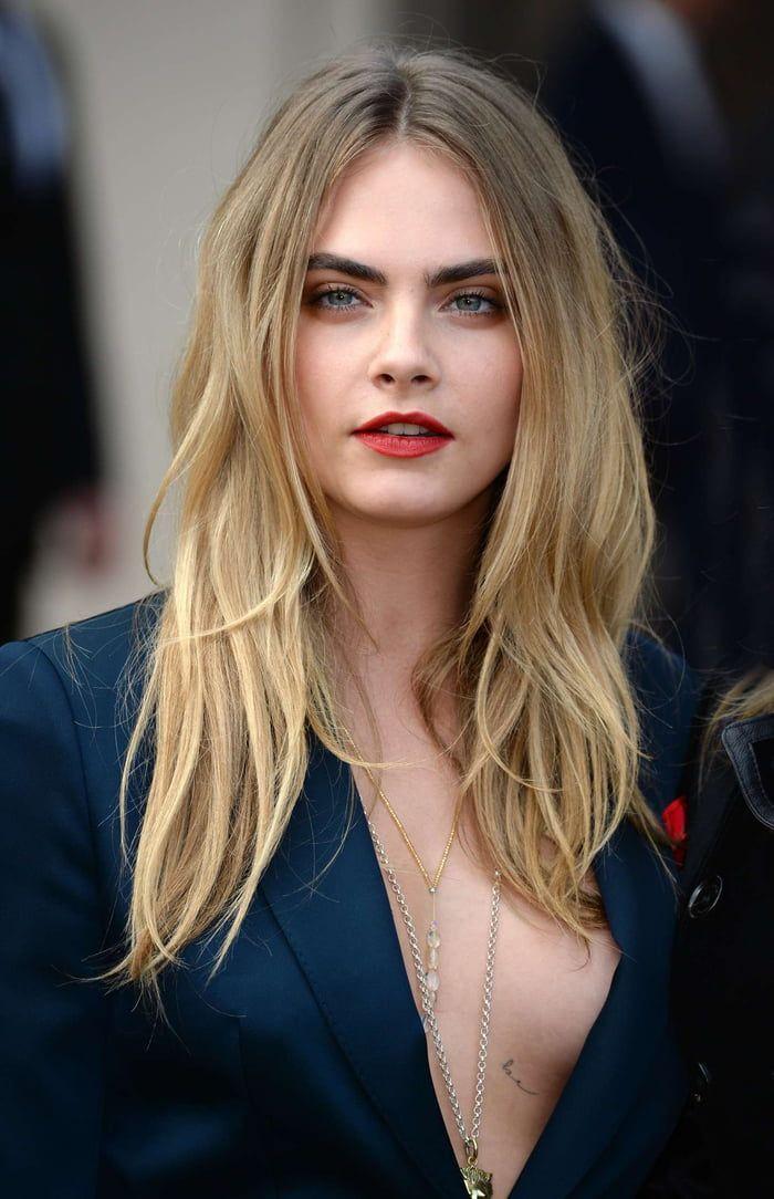 cara delevingne long hair styles