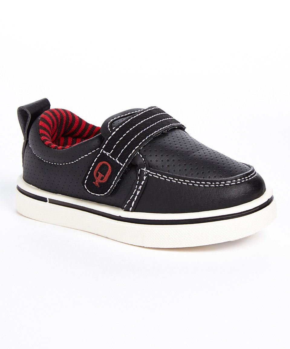 Love this Q Sport Black & Red Perforated Sneaker by Q
