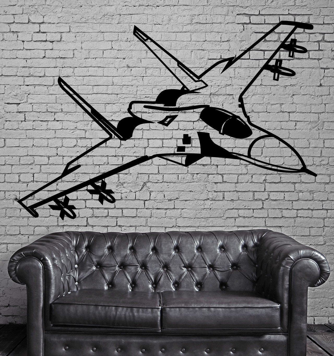 Fighting Jet Air Force Airplane Decor Wall Stickers Vinyl
