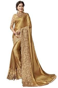 201d2e8b1cd0ca Gold embroidered art silk saree with blouse art-silk-saree | FASHION ...