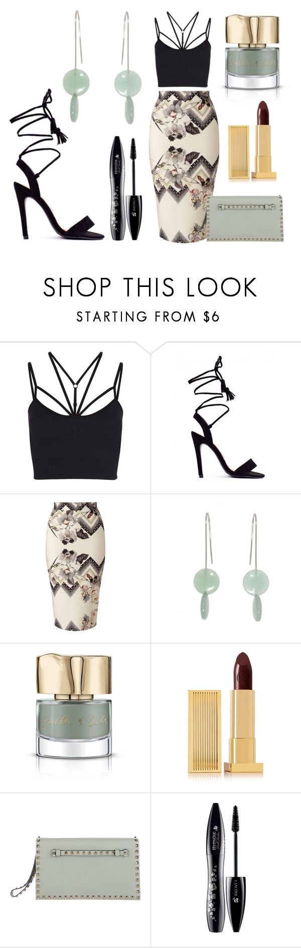 """""""Juxtaposition"""" by avagoldworks ❤ liked on Polyvore featuring Sweaty Betty, Miss Selfridge, Smith & Cult, Lipstick Queen, Valentino, Lancôme and avagoldworks"""