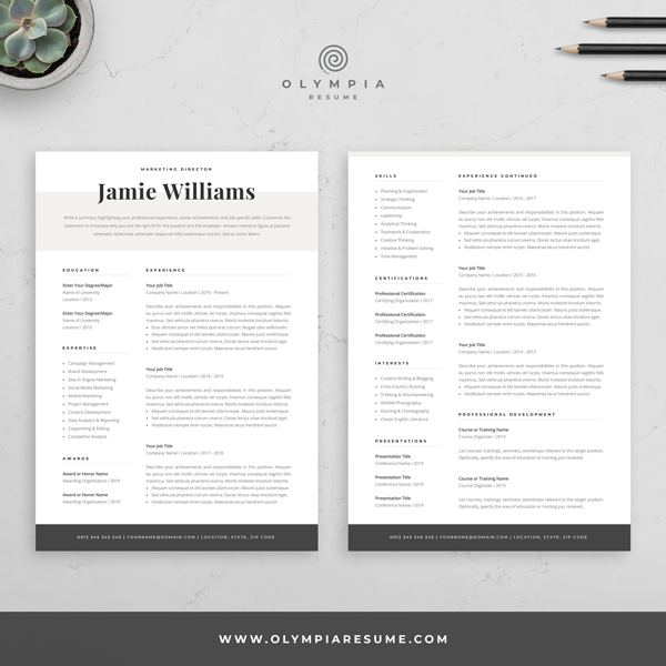 Modern Resume Template Creative Cv For Word Elegant Design Etsy In 2020 Creative Resume Templates Resume Design Template Creative Cv Template