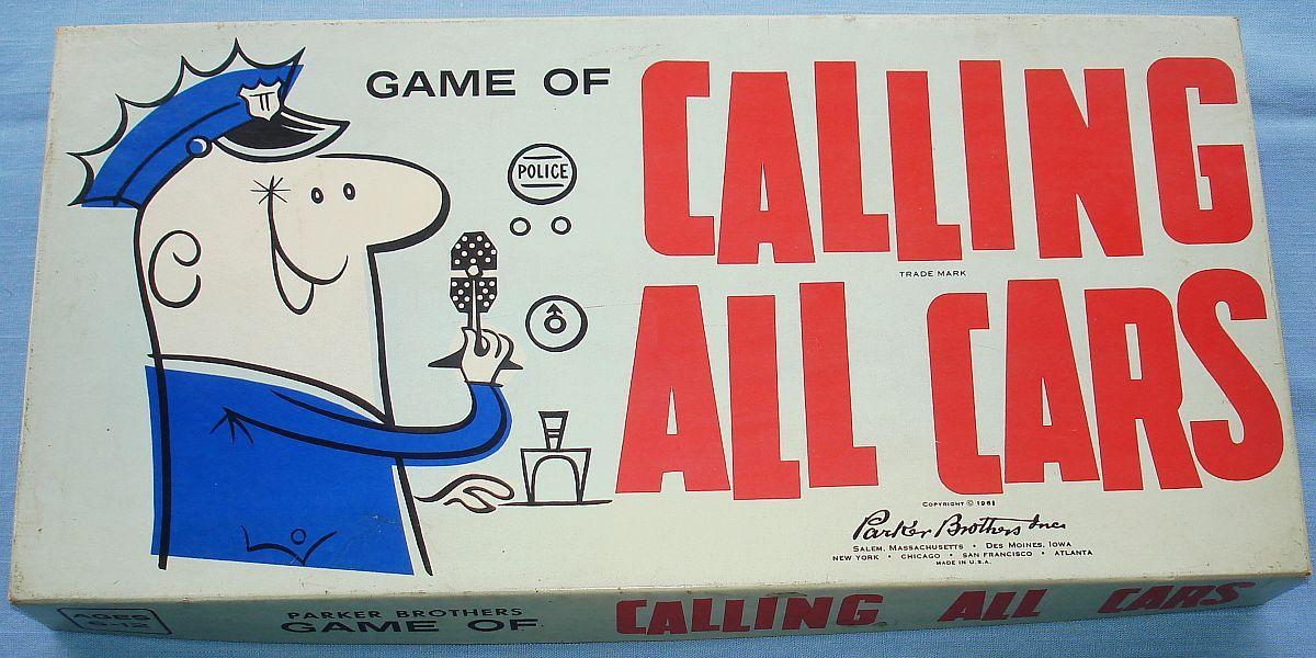 Vintage 1961 Kohner Parker Brothers Calling All Cars Police Board ...