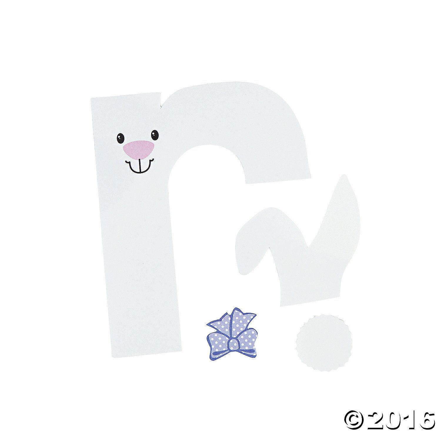 R Is For Rabbit Lowercase Letter R Craft Kit A01