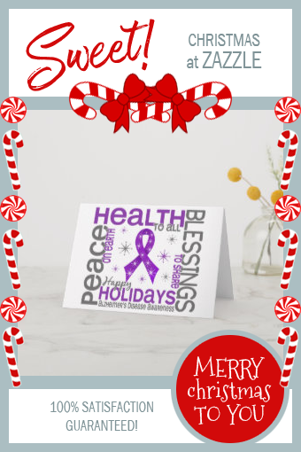 Christmas 4 Alzheimer's Disease Snowflakes Holiday Card