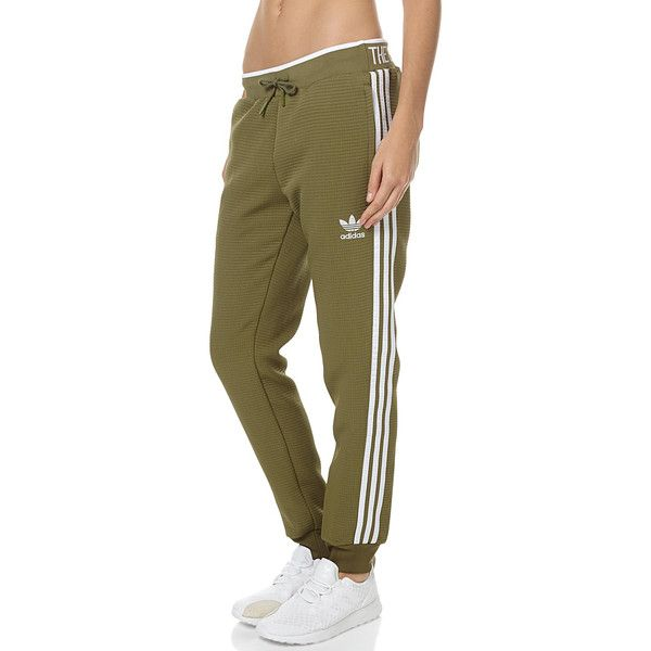 Adidas Originals Regular Cuffed Womens Trackpant Green ( 77) ❤ liked on  Polyvore featuring activewear 4e758b5e11