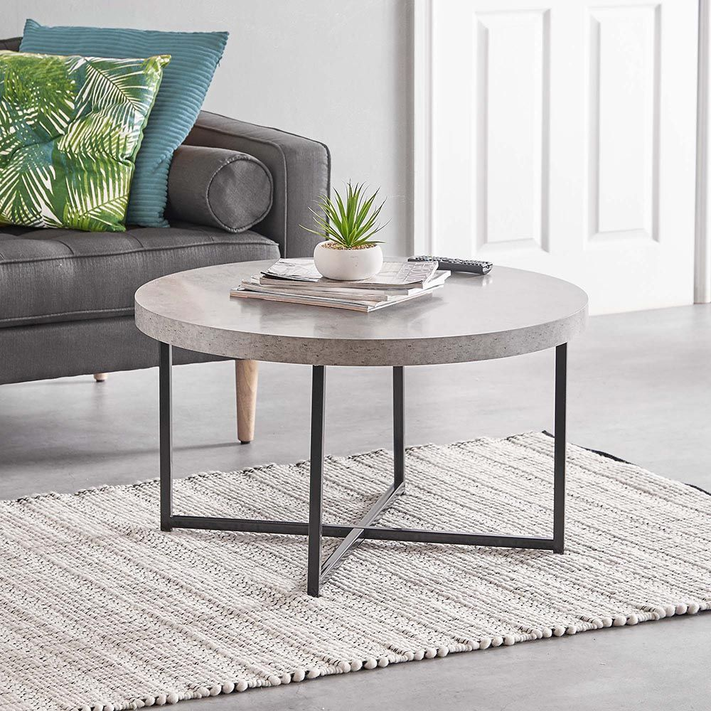 Concrete Look Coffee Table Coffee Table Round Coffee Table Modern Coffee Tables For Sale [ 1000 x 1000 Pixel ]