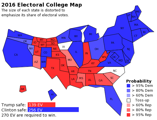 Today\'s Electoral College Map | kNEWS | Electoral college ...