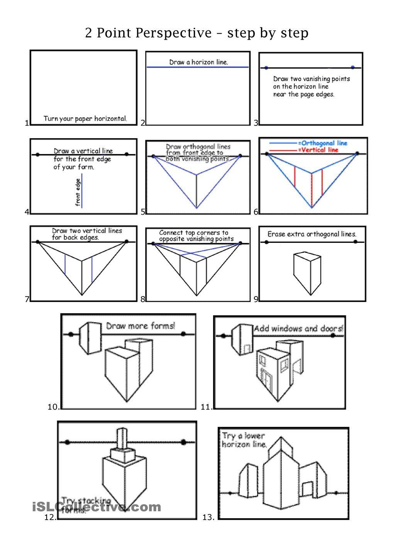 worksheet Perspective Worksheets 2pt perspective middle school art pinterest worksheet free esl printable worksheets made by teachers