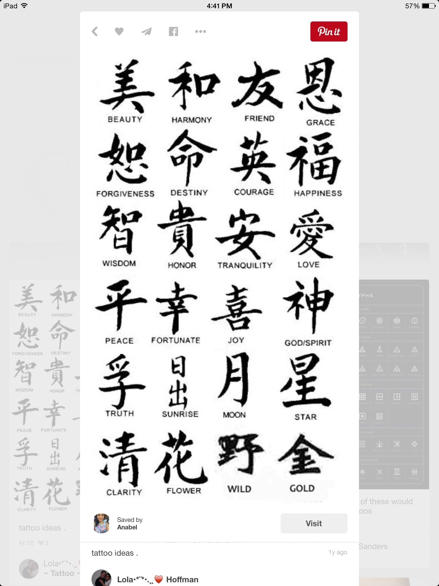 Pin by magaly aguirre on awesome findings pinterest tattoo chinese symbol tattoos more symbols and meaning chinese character biocorpaavc Images