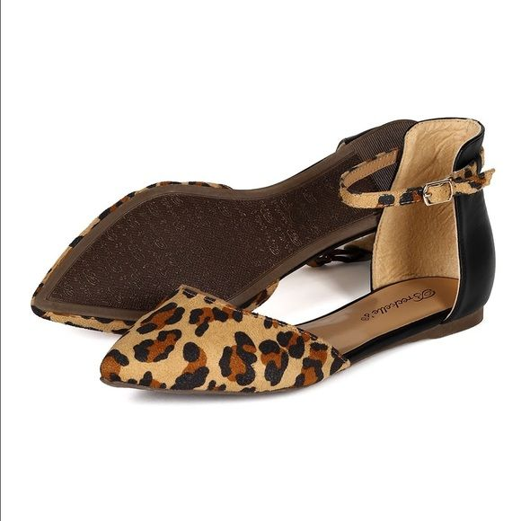NEW IN BOX Dolley Leopard D'Orsay Flats Dolley Leopard D'Orsay Flats Breckelles Shoes Flats & Loafers