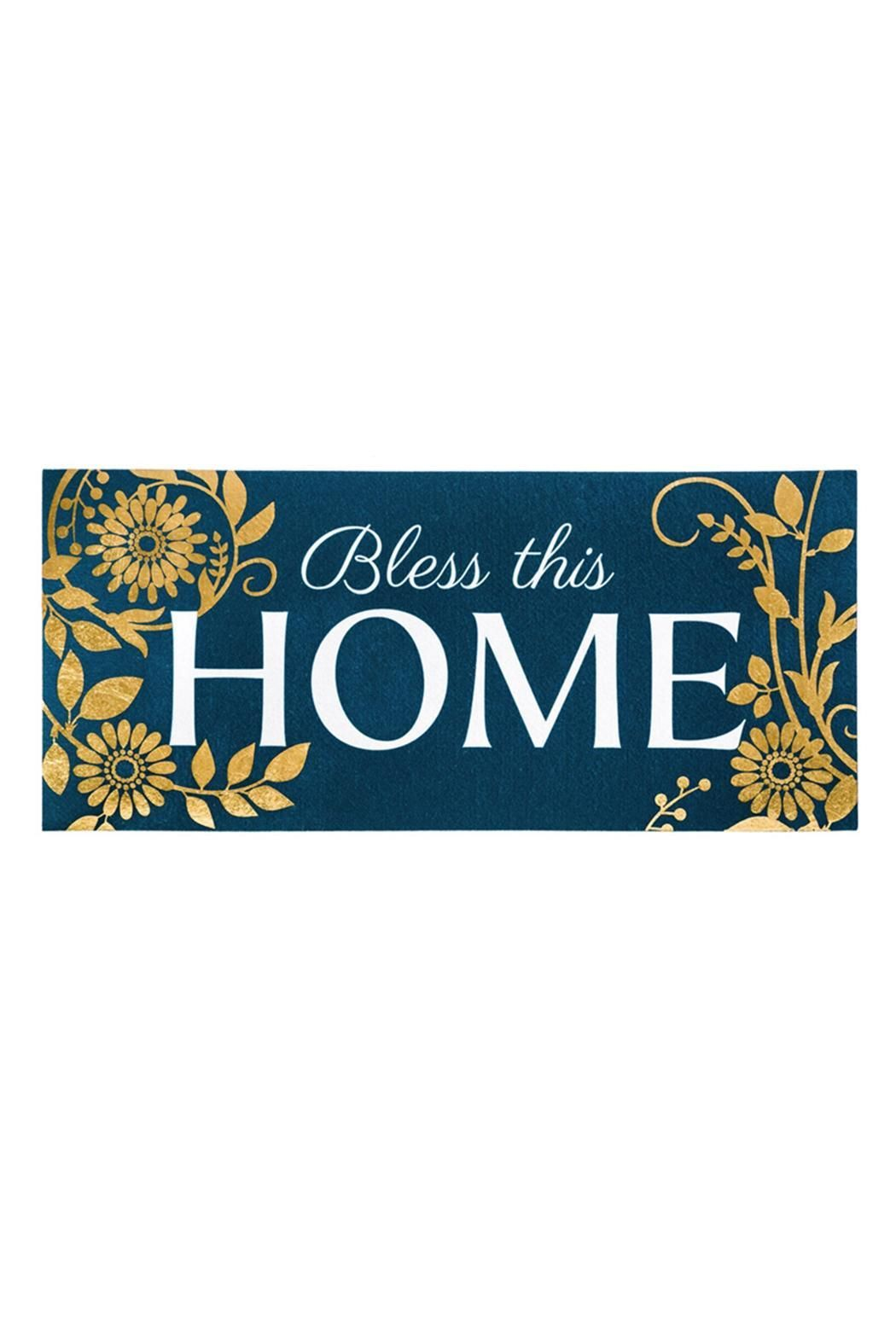 Sassafras Bless This Home Mat Insert Size 10 X 22 X 0 2 Bless This Home Mat By Evergreen Enterprises Missouri Home Switch Outdoor Door Mat Door Mat