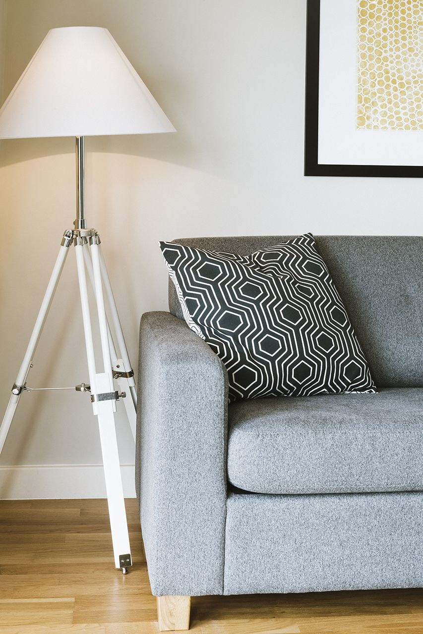 The navy tripod floor lamp in white in our customers home click the navy tripod floor lamp in white in our customers home click for more tips on how to decorate with white on the made blog madeunboxed aloadofball Images