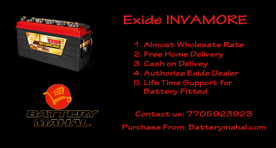 Purchase Exide Invamore Battery Online From Authorize