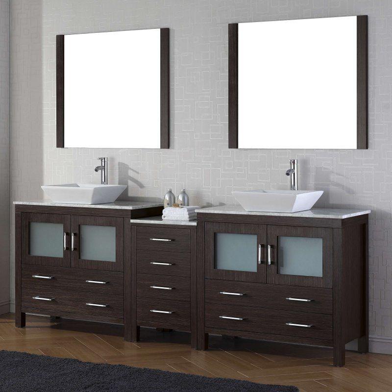 Virtu Dior 90 In Double Bathroom Vanity Set Kd 70090 S Zg 001
