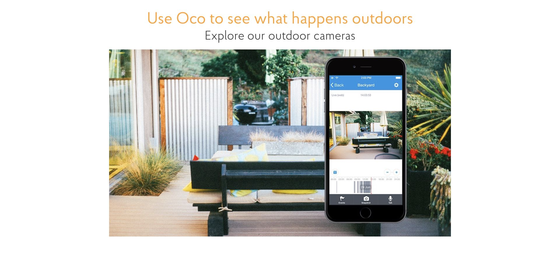 meet oco weather and vandal proof smart security cameras with sd