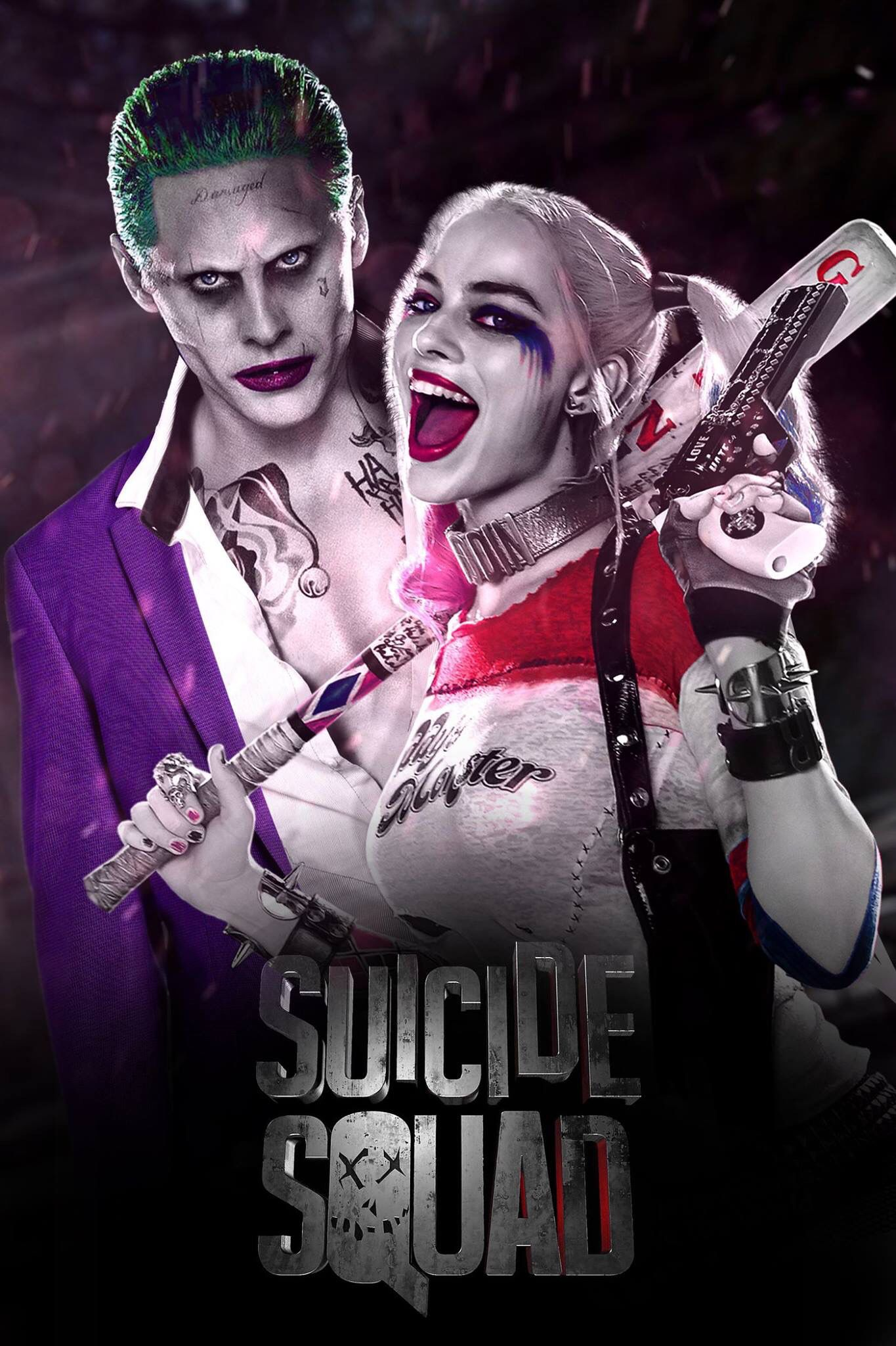 SUICIDE SQUAD Harley Quinn. The Joker