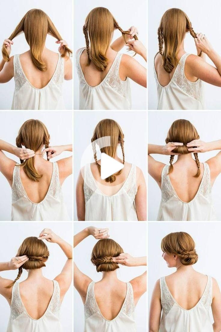 Quick and easy hairstyles for beginners - styling ideas with instructi