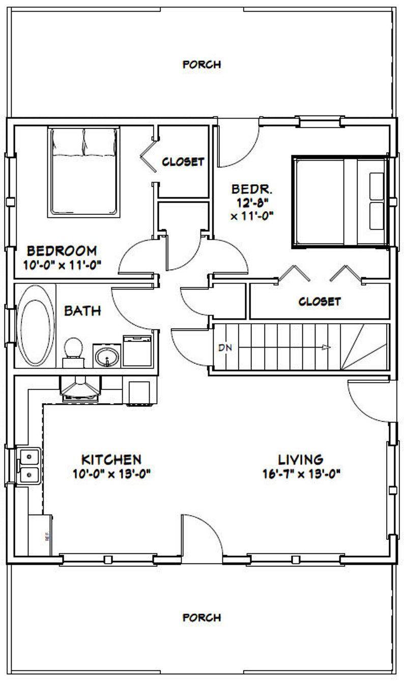 28x32 House 2Bedroom 1Bath 848 sq ft PDF Floor