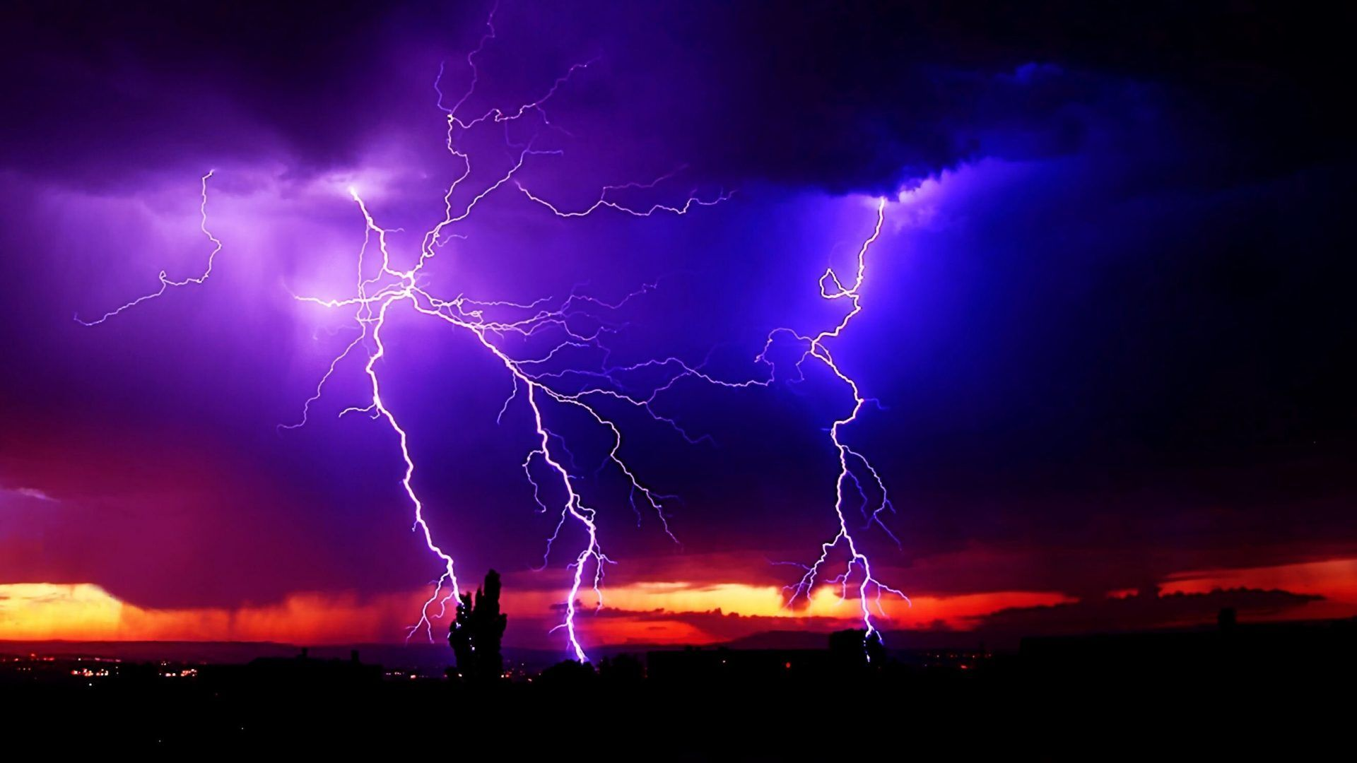 Sky Weather Sky Clouds Nature Storm Lightning Rain Full