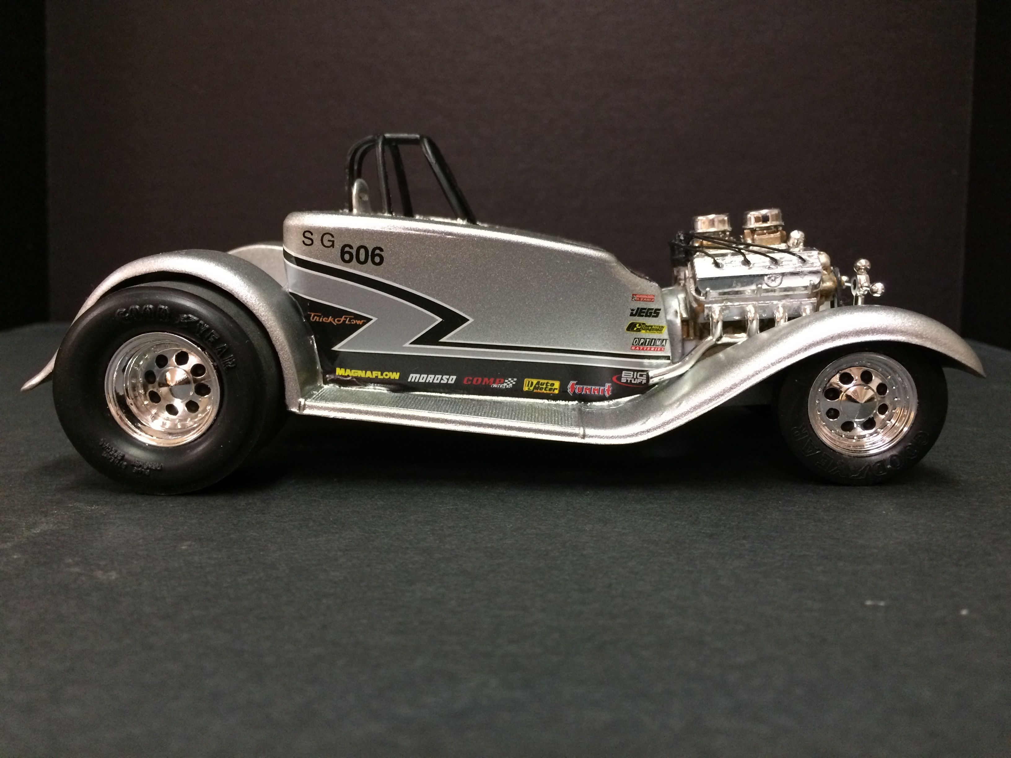 The Wild Child Super Gas Roadster I Built With Parts And Pieces I Had Stashed Away Car Model Scale Models Roadsters