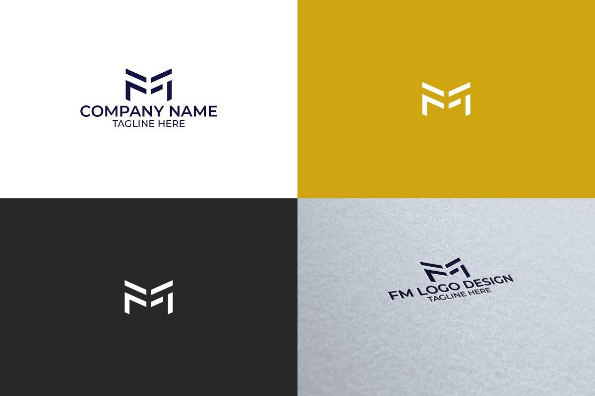 FM Monogram Logo in 2020 Monogram logo, Logo design