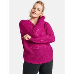 Photo of Pullover mit Strickmuster Pink Gerry Weber