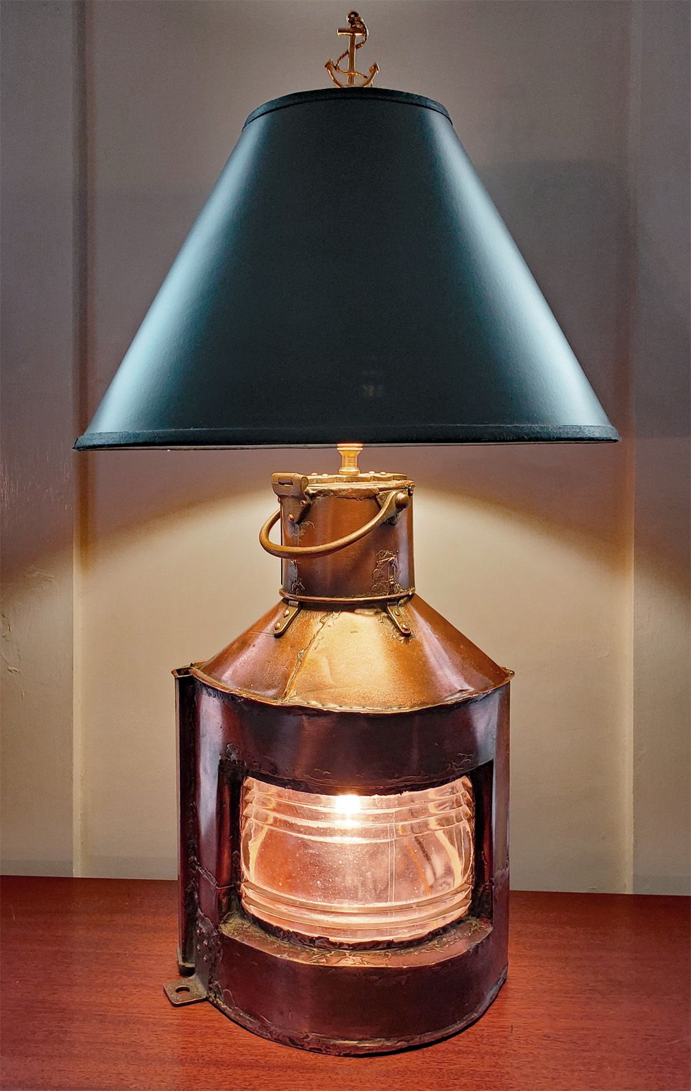 Authentic Copper Navigational Light Nautical Table Lamp In 2020 With Images Table Lamp Lamp Nautical Lamps