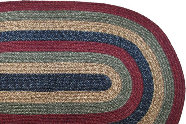 Cranberry Amp Navy Blue Braided Rug Braided Rugs Floor
