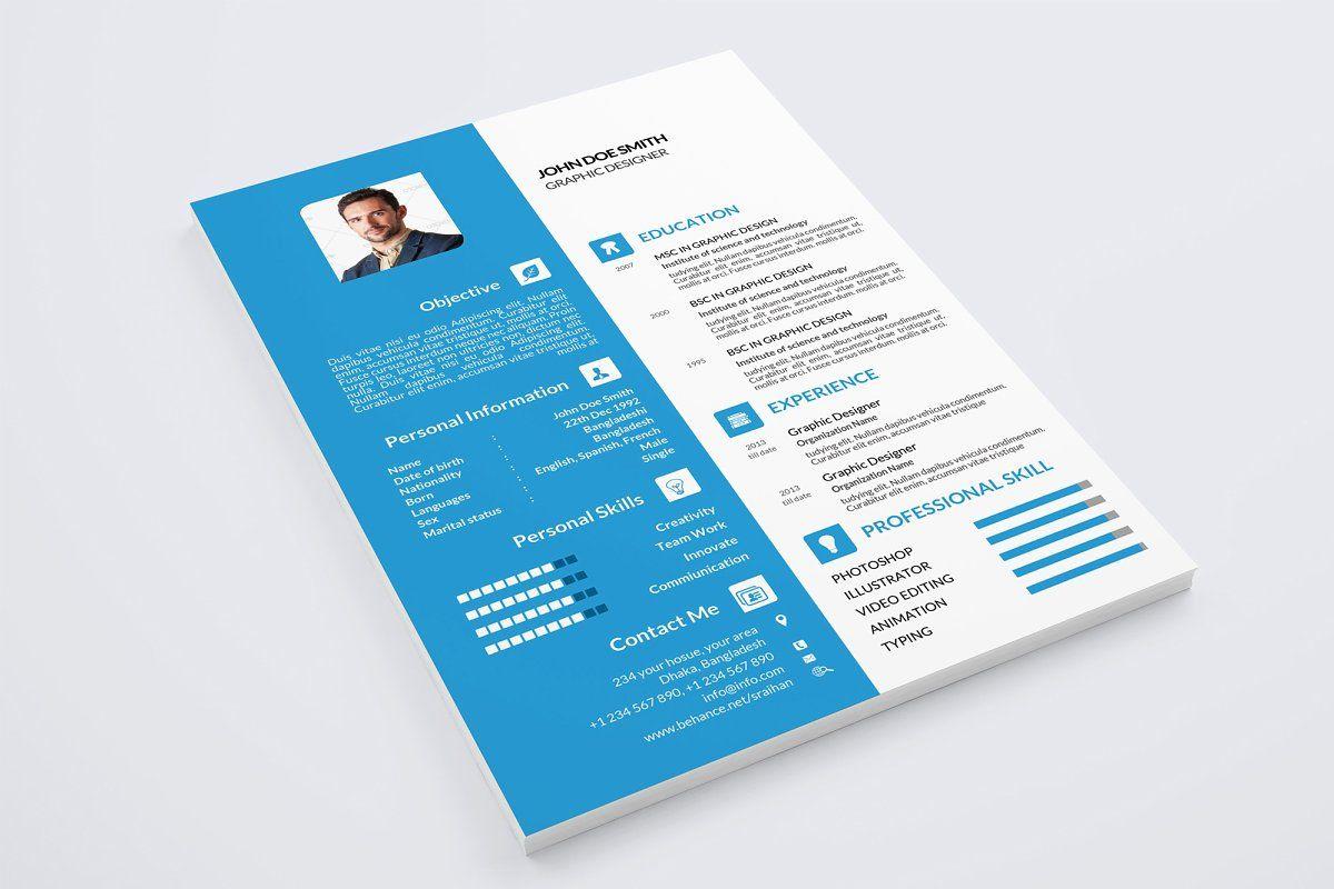 Colored Resume Template 2018 Vol 1 Resume Template Creative Resume Facebook Timeline Templates