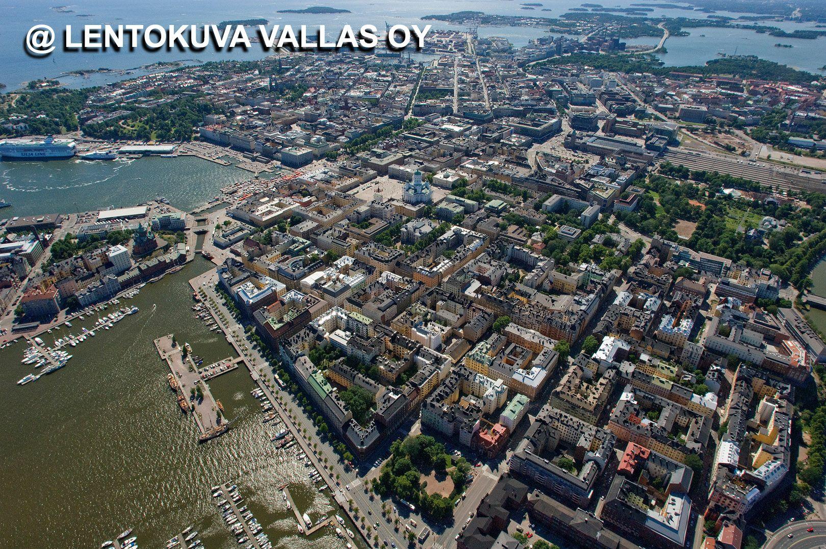 Helsinki Laajoja Nakymia Ilmasta Ilmakuva Lentokuva Vallas Oy