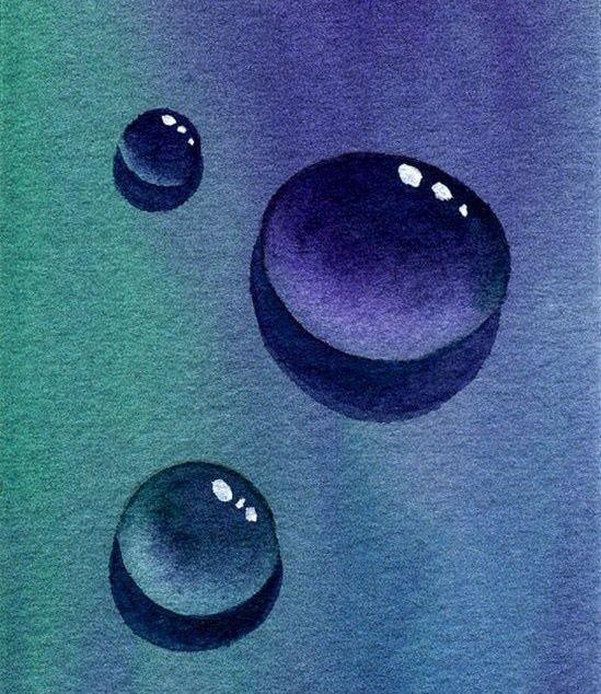 Wassertropfen, spiegelung, Malanleitung #abstraktezeichnungen