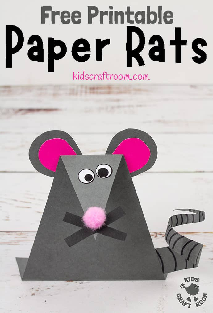 Printable Paper Mouse Craft