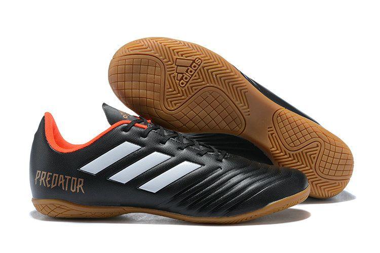 f1e10c272747 Men Adidas Predator Tango 18 4 IN 2018 Word Cup Football Shoes Black White  Orange Brown