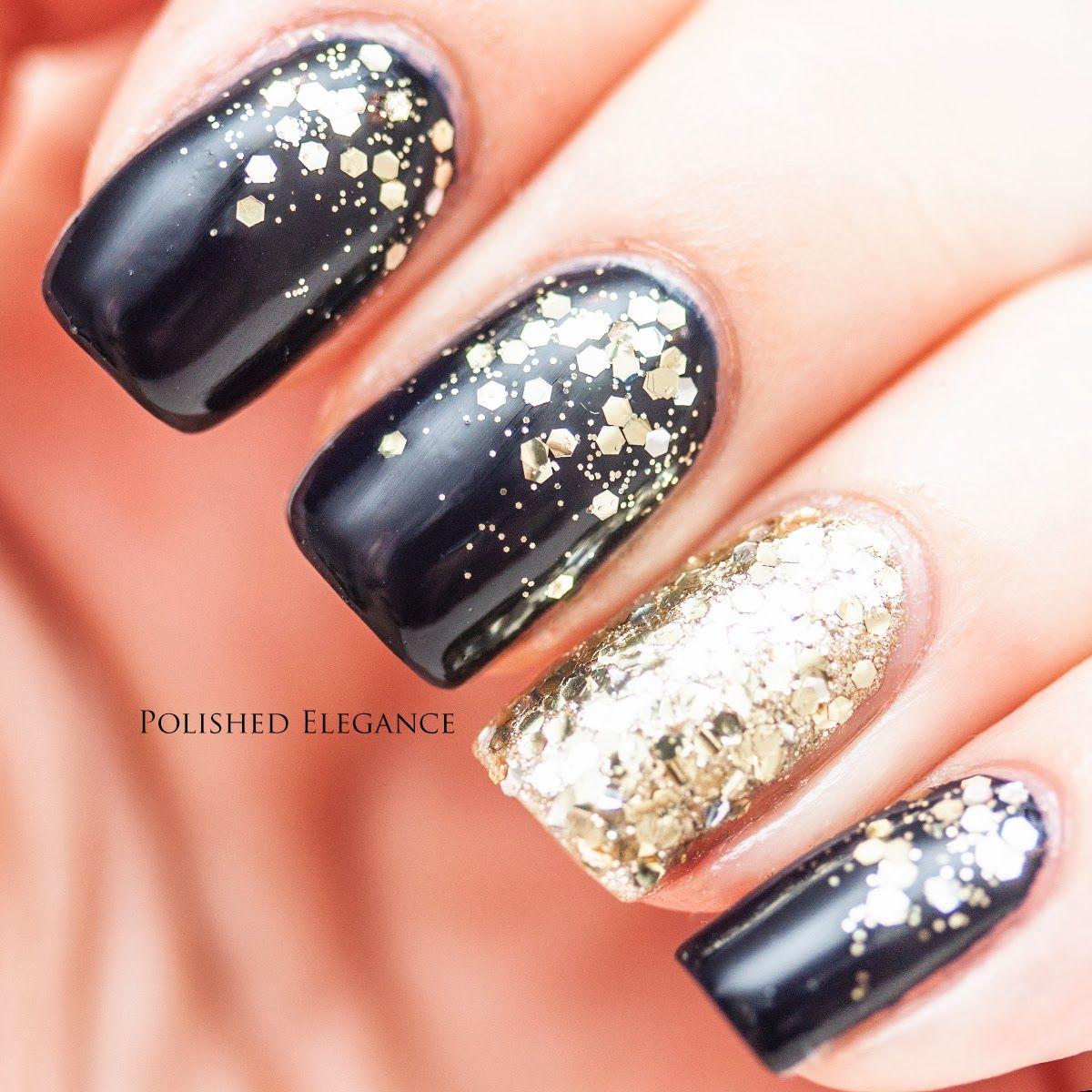 Essie - After School Boy Blazer nail polish gold glitter blue ...