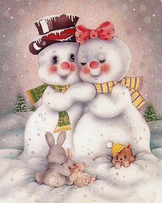 Наступающим, рождественская открытка любовь