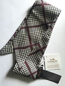 Nwt Coach Peyton Glen Plaid Navy Multi Pony Tail Or Neck Scarf 85187 Free Ship Ebay
